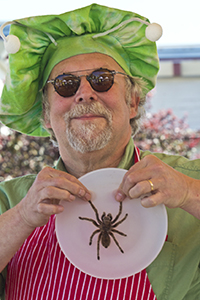 Author David Gordon, edible bugs, Port Townsend Farmers Market,